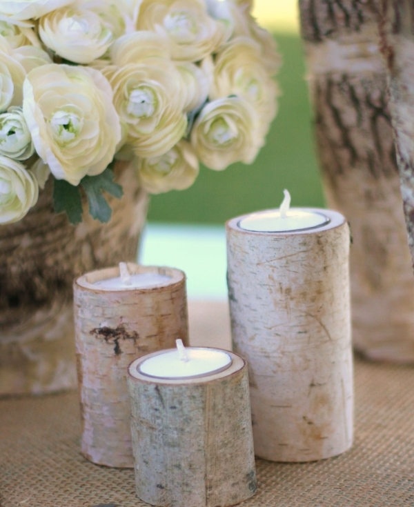 Rustic Woodland Candles
