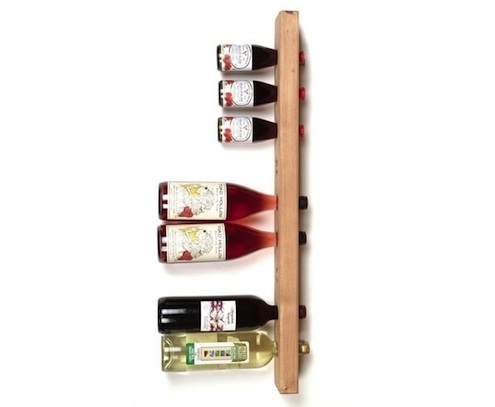 Sideways shelf 15 easy diy wine racks to make for How to make a simple wine rack