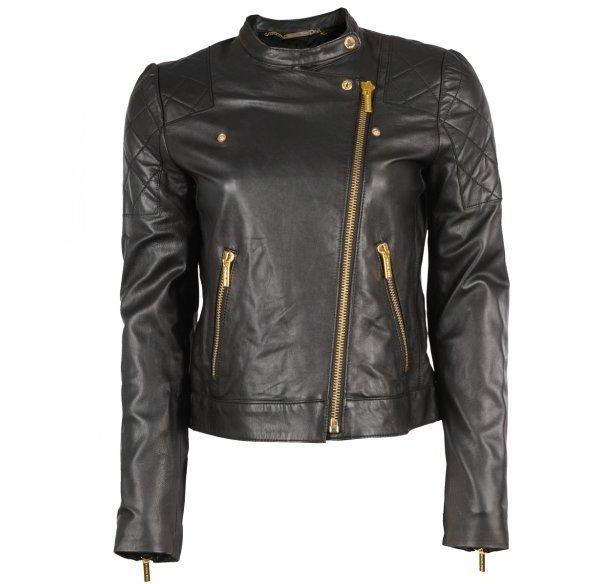 michael kors black quilted leather jacket 7 best michael. Black Bedroom Furniture Sets. Home Design Ideas