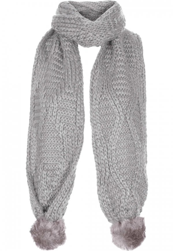 Knitting Pattern For Scarf With Pom Poms : Faux Fur Pom Pom Scarf - 9 Furry Accessories to Add Texture to?