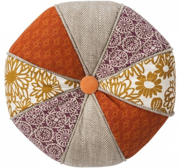 Threshold round patchwork toss pillow 7 whimsical decorative - Enhance your home decor with fancy cushions ...