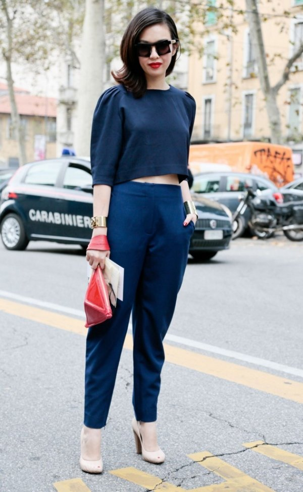 Head To Toe Colour 9 Street Style Ways To Wear Crop Tops