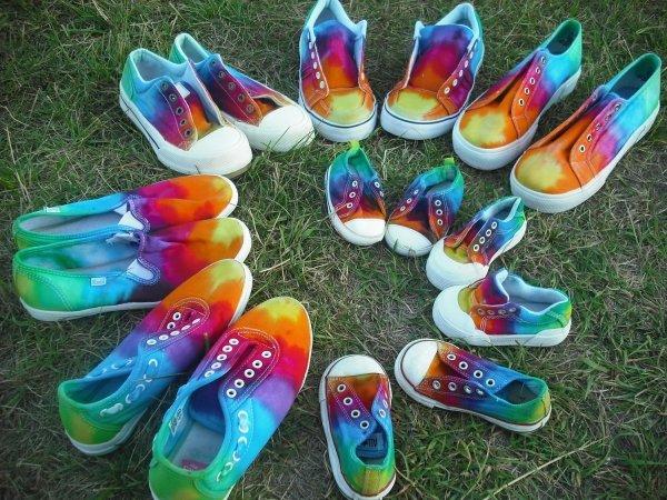 Tie-Dye Shoe