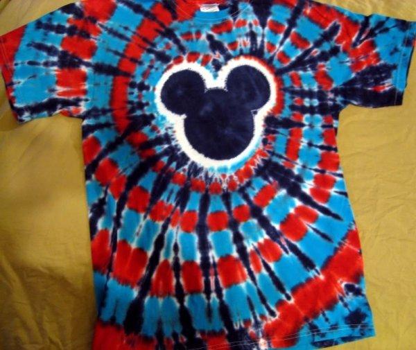 Tie-Dye Mickey Mouse Design