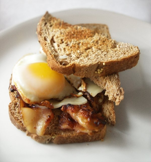 salmon open faced breakfast sandwich the classic breakfast sandwich ...