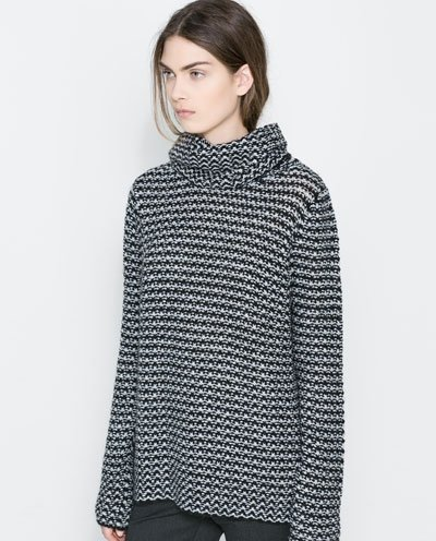 Zara – Sweater with Loose Turtleneck - 9 Comfy and Cute Sweaters…