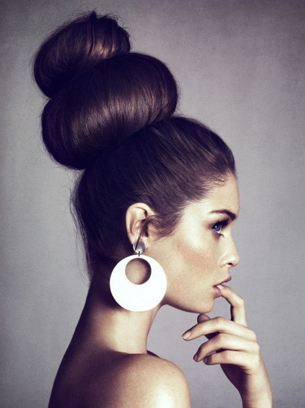 Pleasant Double Bun Hairstyle Hairstyles For Women Draintrainus