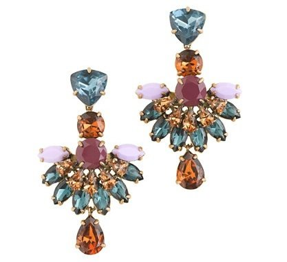 J.Crew JEWELED FAN DROP EARRINGS