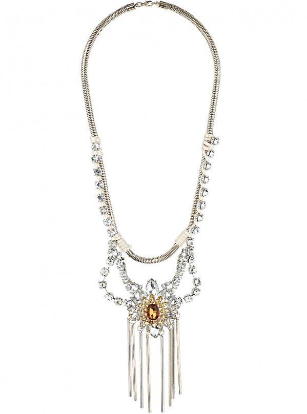 Rhinestone Drop Necklace