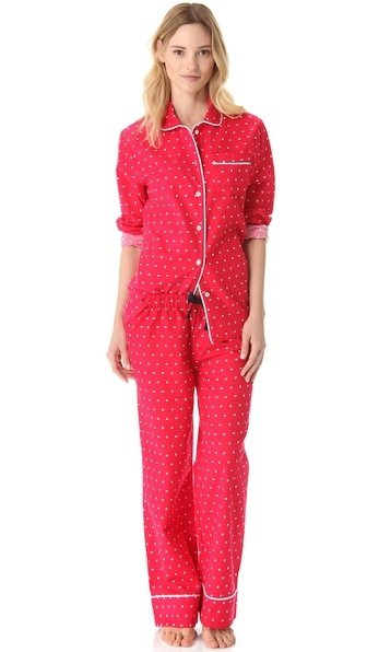 Red Polka Dot Pajamas Set