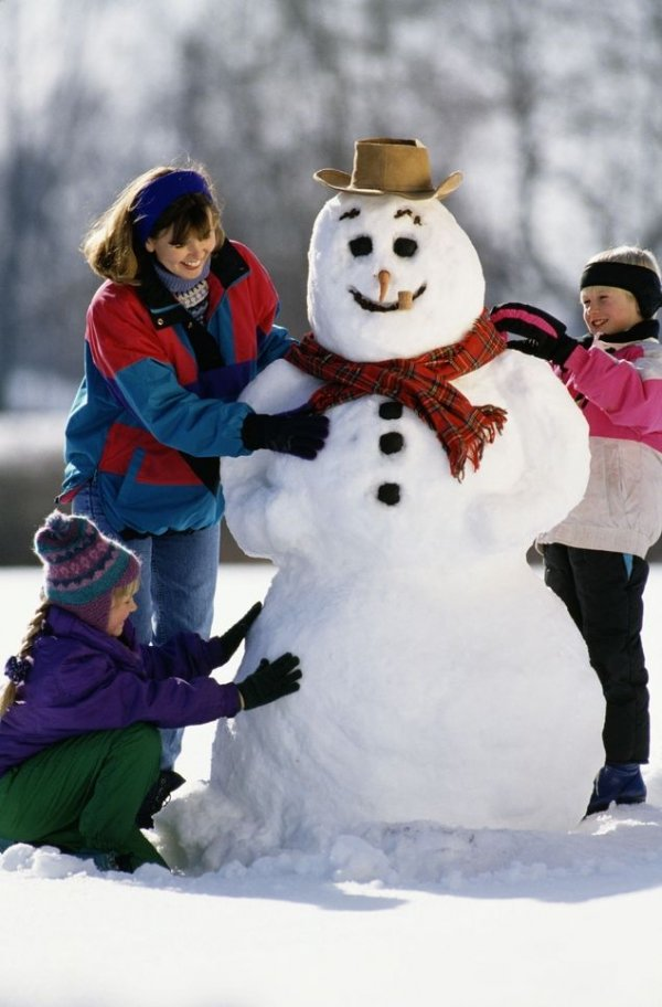 Image result for kid snowman