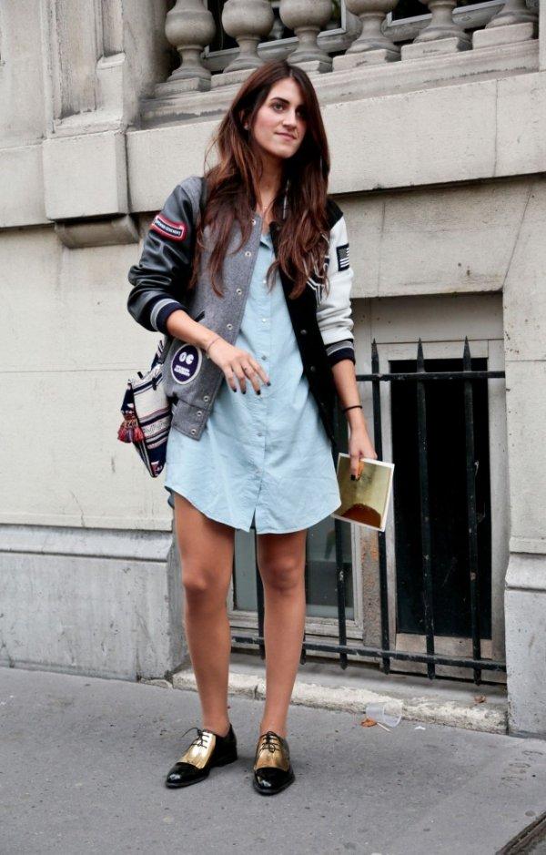 Effortlessly Dressed 9 Street Style Ways To Wear A Varsity
