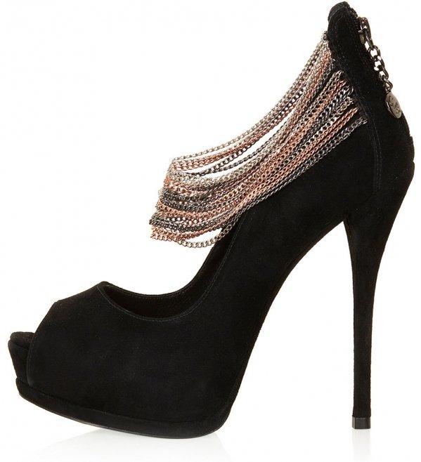 Chain Peep Toe Shoes