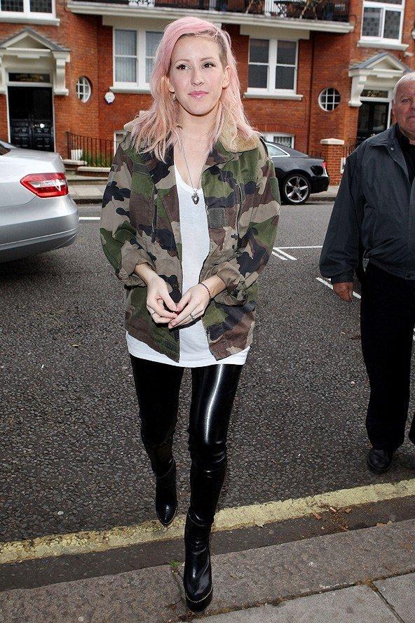 Ellie Goulding 7 Celebrities Wearing Camouflage Prints