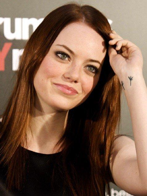 Emma Stone S Wrist Tattoo 11 Best Celebrity Tattoos That You Re