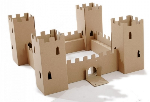 Cardboard castle 13 adorably charming christmas gifts for Castle made out of cardboard