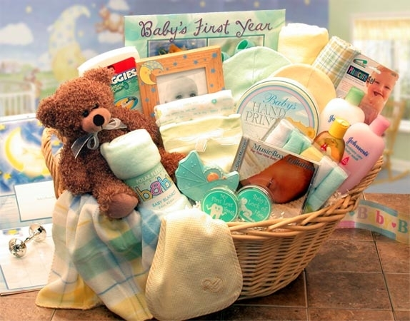New Baby Gift Baskets Ireland : Baby gift basket ideas that rock