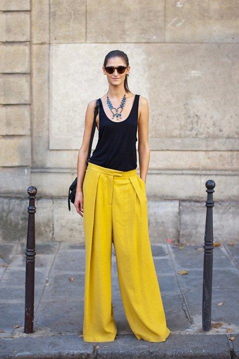 Fashion trend wide leg pant
