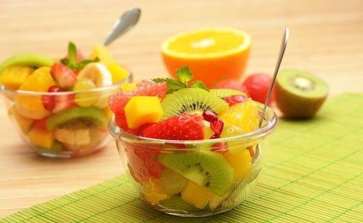 Kiwi Fruit, Mango, and Papaya Fruit Salad - 7 Snacks for Healthy…