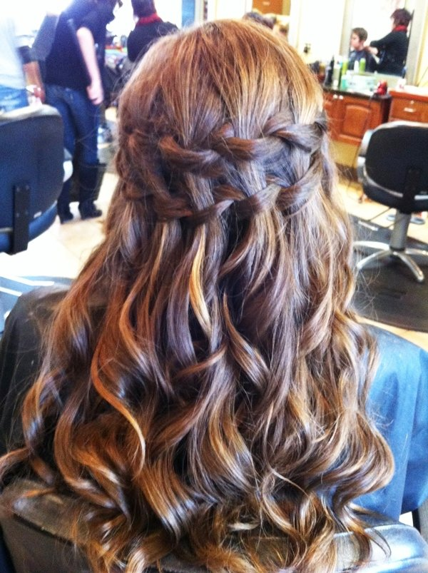 Double Waterfall Braid I Think Im Going To Do The Half Up Down Hairstyle