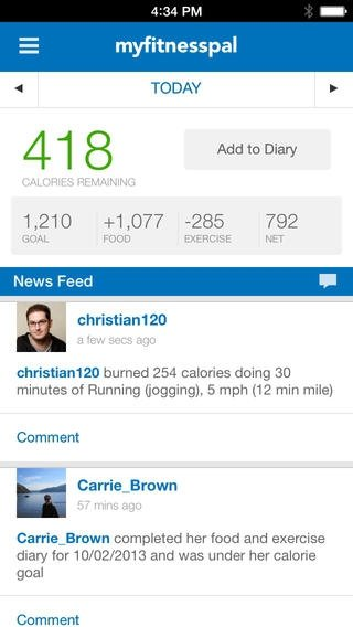Calorie Counter & Diet Tracker by My FitnessPal