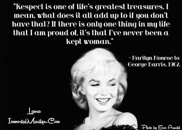 Respect 7 Empowering Quotes From Marilyn Monroe
