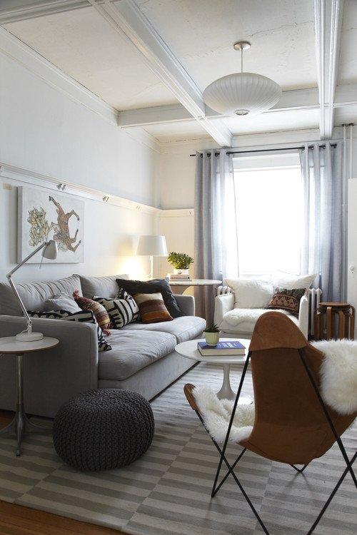 7 manieren om je woonkamer een make over te geven - Een kleine rechthoekige woonkamer geven ...