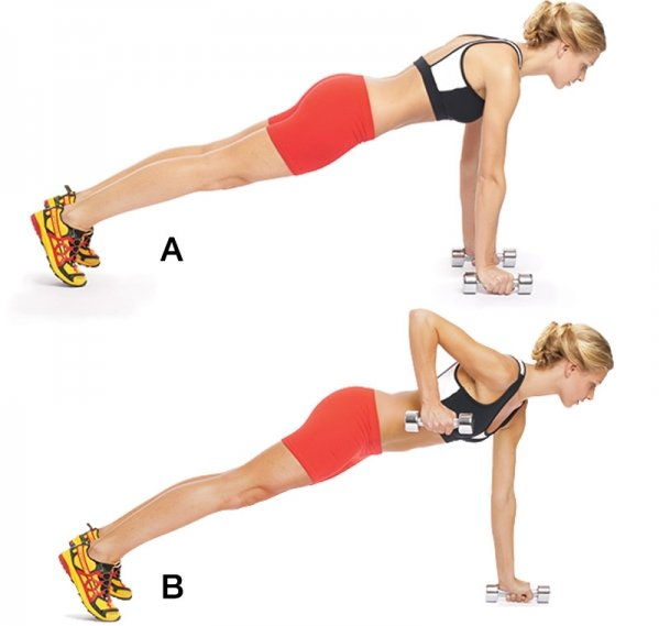 Press-up and Row - 7 Fat Burning Exercises to Blast Those ...