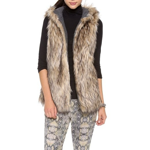 Women Import Fox Fur Vest Coat Warm Fur Vest Coat Women Long Faux Fur Vest Winter Coat Jacket Outwear. from $ 15 00 Prime. out of 5 stars 6. Ferand. Ladies Genuine Knitted Rabbit Fur Poncho Cape Shawl for Women. from $ 29 99 Prime. out of 5 stars SweatyRocks.