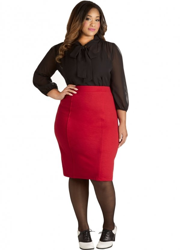 Modcloth – Style Essential Skirt in Red - plus Size - 9 Fiery Red…