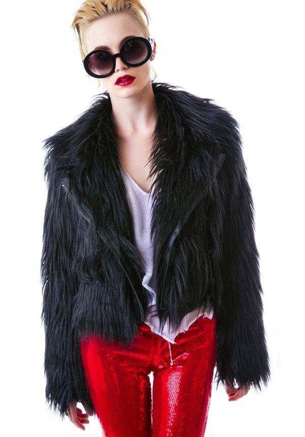 Chaser – Minx Faux Fur Moto Jacket