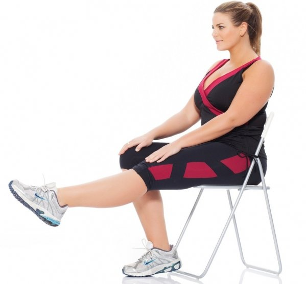 Chair leg lifts workouts to do while watching tv …