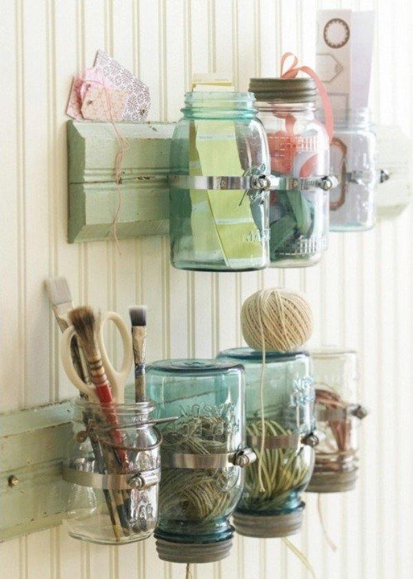 Mason Jar Storage DIY