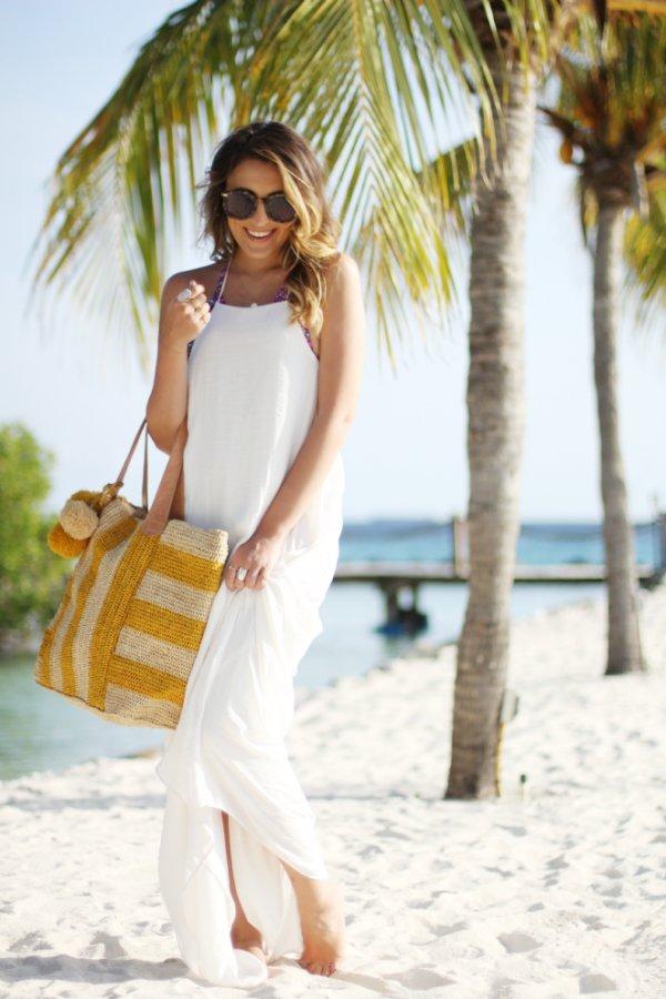 Striped Linen Bag