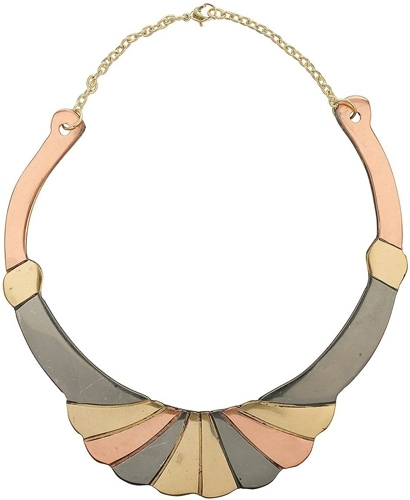 Topshop Deco Mixed Metal Torque Necklace
