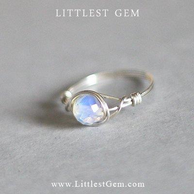 Silver Moonstone Ring