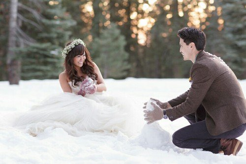 photograph, winter, bride, snow, gown,
