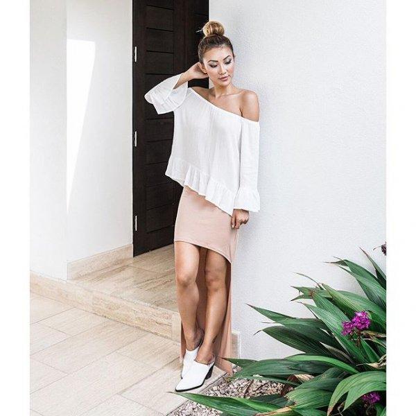 white, clothing, dress, sleeve, cocktail dress,