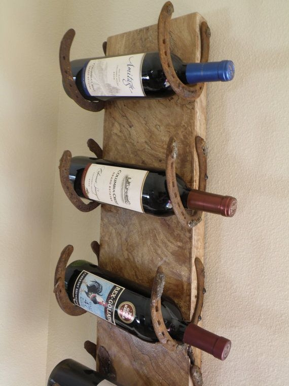 16 Horseshoe Wine Rack 37 Horseshoe Crafts To Try Your