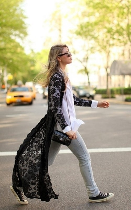 Cardigan - 7 Street Style Ways to Wear the Lace Trend ... …