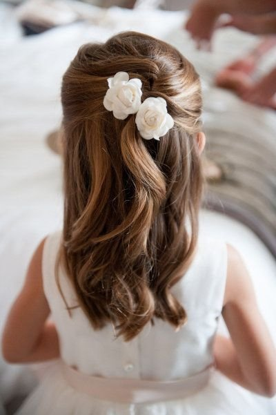 Flower Girl Hairstyles flower girl hairstyles half up half down google search Easy Flower Girl Do Hairbridal Accessoryclothinghairstylebride