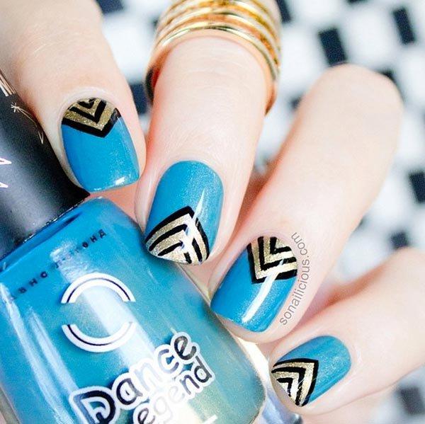 nail, finger, blue, nail care, nail polish,