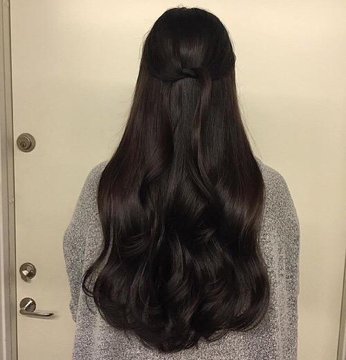 hair, hairstyle, long hair, black hair, brown hair,