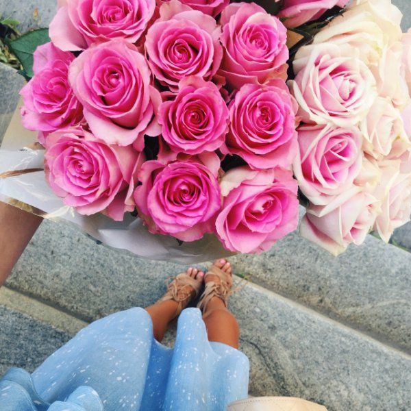 flower, pink, rose, flower bouquet, cut flowers,