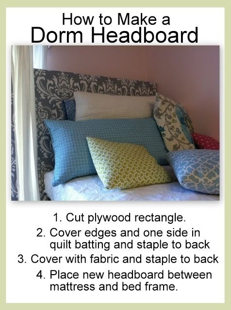 diy headboard 34 diy dorm room decor projects to spice up your