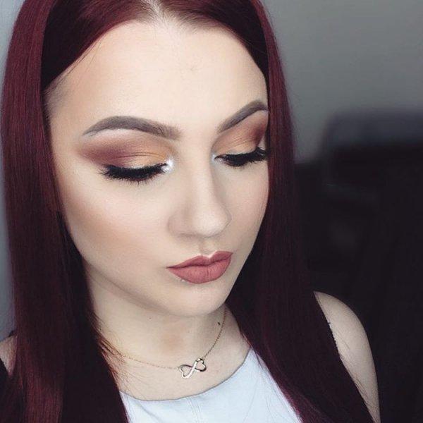 Practice on applying eyeshadow for teens