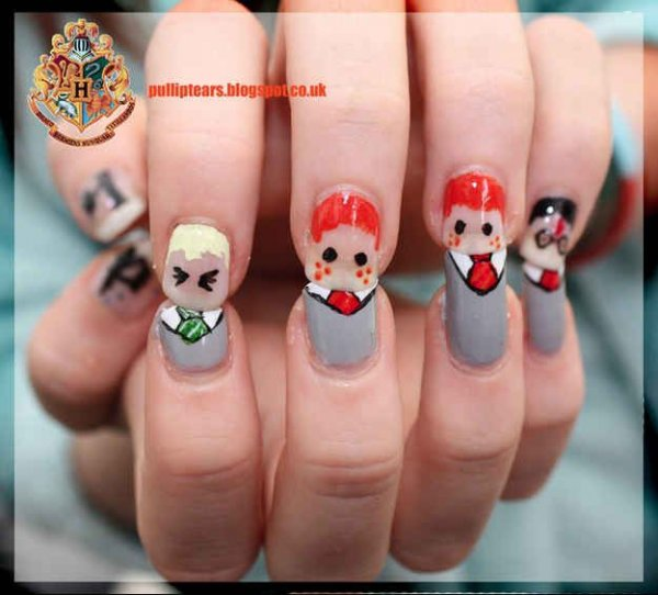 Character Design Nails : Harry potter character nails nail art