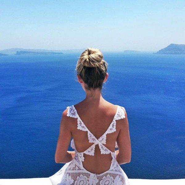 clothing, blue, vacation, sea, beauty,