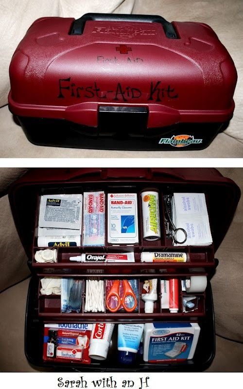 Make a Tackle Box First Aid Kit for Camping