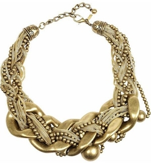 Kenneth Jay Lane Gold-Plated Oversized Necklace